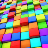 Colorful cubes Stock Photography