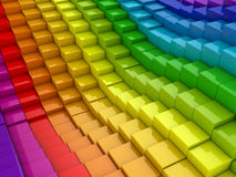 Colorful cubes background royalty free illustration
