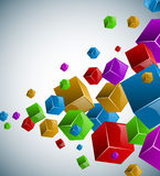Colorful cubes background Royalty Free Stock Images