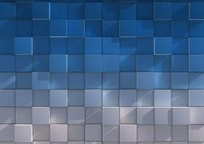 Colorful cubes background. Abstract background of blue and gray cubes Stock Photo