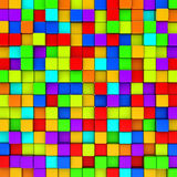Colorful cubes background. Stock Photo
