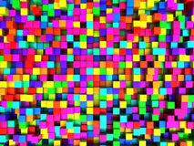 Colorful cubes background Stock Photography