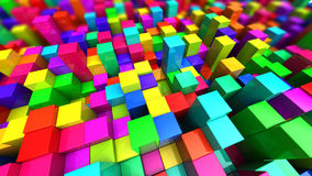 Colorful cubes background Stock Images