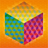 Colorful cubes background Royalty Free Stock Photos