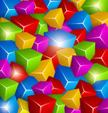 Colorful Cubes Background. Background made of Colorful Cubes Royalty Free Stock Photo