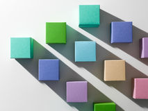 Colorful cubes background Royalty Free Stock Image
