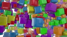 Colorful cubes stock video