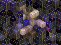 Colorful cubes. Colorful 3d cubes, boxes abstract design background Royalty Free Stock Photography
