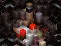 Colorful cubes. Colorful 3d cubes, boxes abstract design background Stock Images