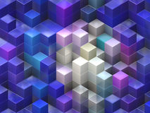 Colorful cubes. Colorful 3d cubes, boxes abstract design background Stock Image