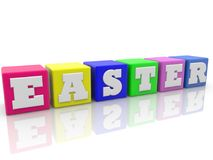 Colorful cubes with Easter concept Stock Image