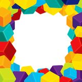 Colorful Cubes Frame Geometrical background Vector Stock Photos