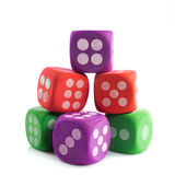 Colorful cubes isolated on white background game toys Royalty Free Stock Image