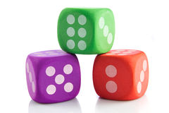 Colorful cubes isolated on white background game toys Stock Photos