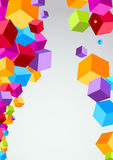 Colorful cubes make a background Stock Photo