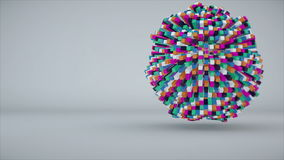 Colorful cubes making up the sphere. 3d rendering Royalty Free Stock Image