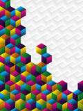 Colorful cubes panel. Stock Photos