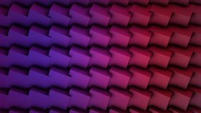 Colorful Cubes Seamless Loop. Abstract Cubes Background Random Motion, 3d Loopable Animation. Violet and pink Royalty Free Stock Photos