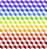 Colorful cubes. Seamless pattern.Background design covered by a lots of colorful cubes Royalty Free Stock Image