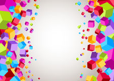 Colorful cubes on the sides - geometrical backgrou Stock Image