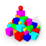 Colorful cubes and sphere Stock Photography