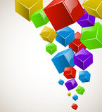 Colorful cubes stream Stock Photo