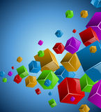 Colorful cubes stream Royalty Free Stock Image