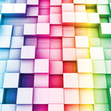 Colorful cubes. Vector background Royalty Free Stock Photography