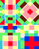 Colorful cubic background Stock Image