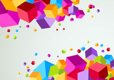 Colorful cubic bright background. Clip-art Royalty Free Stock Photography