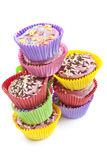 Colorful cup cakes Royalty Free Stock Photo