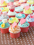 Colorful of cup cakes Royalty Free Stock Images