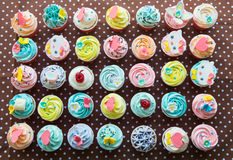 Colorful of cup cakes Stock Photo