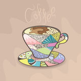 Colorful cup of coffee Royalty Free Stock Image