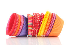 Colorful cupcake papers Royalty Free Stock Image