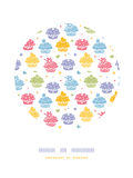 Colorful cupcake party circle decor pattern Royalty Free Stock Photography
