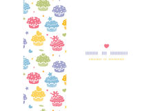 Colorful cupcake party horizontal seamless pattern background Royalty Free Stock Image