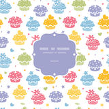 Colorful cupcake party seamless pattern background Royalty Free Stock Photos