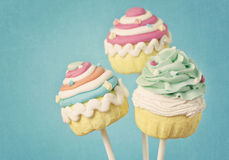 Colorful cupcake pops Stock Photo