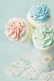 Colorful cupcake pops Stock Images