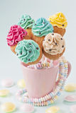Colorful cupcake pops Royalty Free Stock Photo