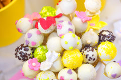 Colorful cupcake pops. candy bar Stock Image