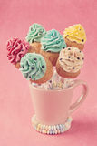 Colorful cupcake pops Stock Image