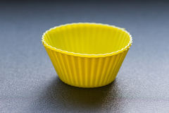 Colorful cupcake silicon molds Stock Images