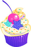 Cute Colorful Cupcake with Sprinkles Royalty Free Stock Photography