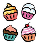 Colorful cupcake Royalty Free Stock Photography