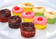 Colorful cupcakes Stock Photos