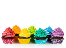 Colorful Cupcakes Stock Photography