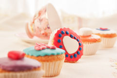 Colorful cupcakes for dessert. Royalty Free Stock Photo