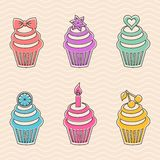Colorful cupcakes Stock Photo